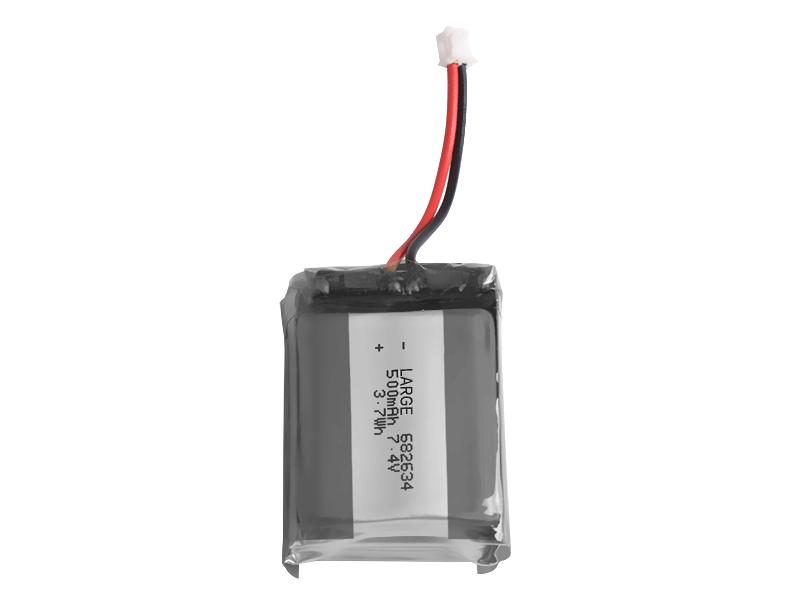 682634 7.4V 500mAh锂聚合物电池组