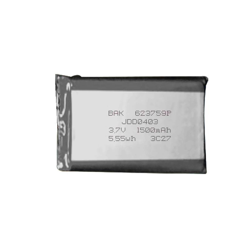 623759P 3.7V 1500mAh聚合物锂电池组