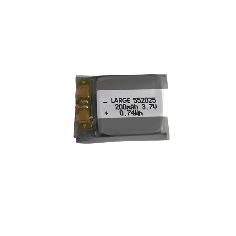 552025 3.7V 200mAh聚合物锂离子电池组