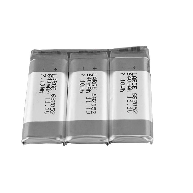 11.1V 640mAh 682052超声波流量计锂电池组