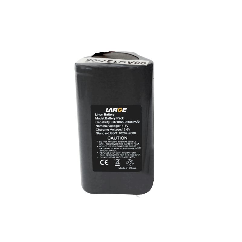 11.1V 2600mAh 18650输液泵锂电池组