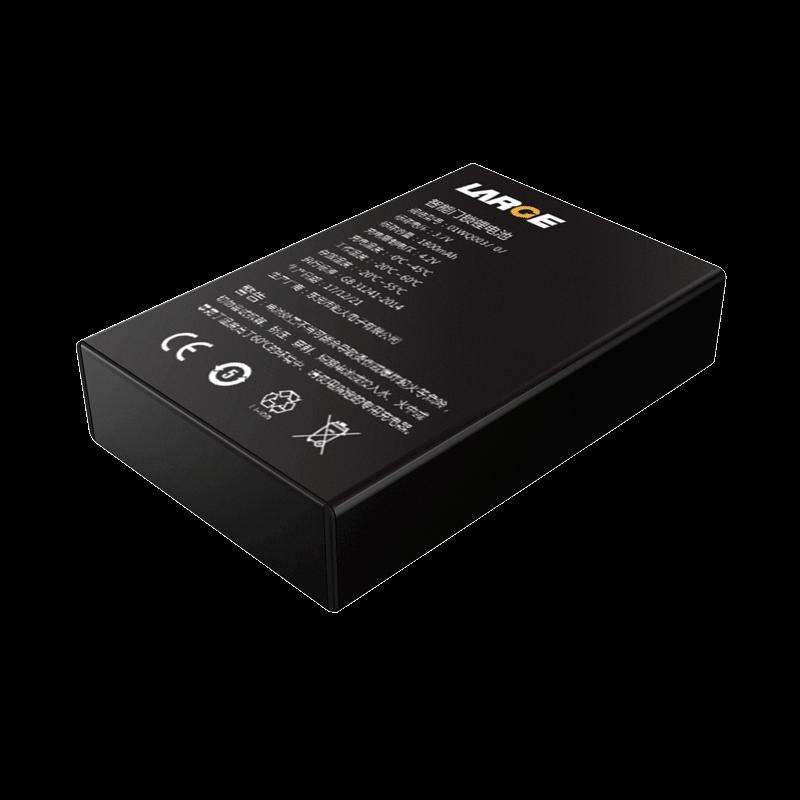 3.7V 1800mAh 103450 智能门锁铝壳锂离子电池